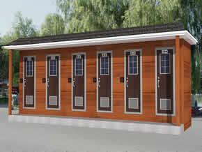 防腐木移动公厕YT-CS028