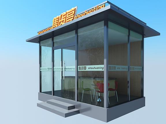 玻璃艺术岗亭YZ257-BLGT
