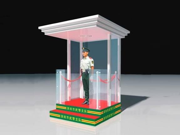 艺术玻璃岗亭YZ030-BLGT