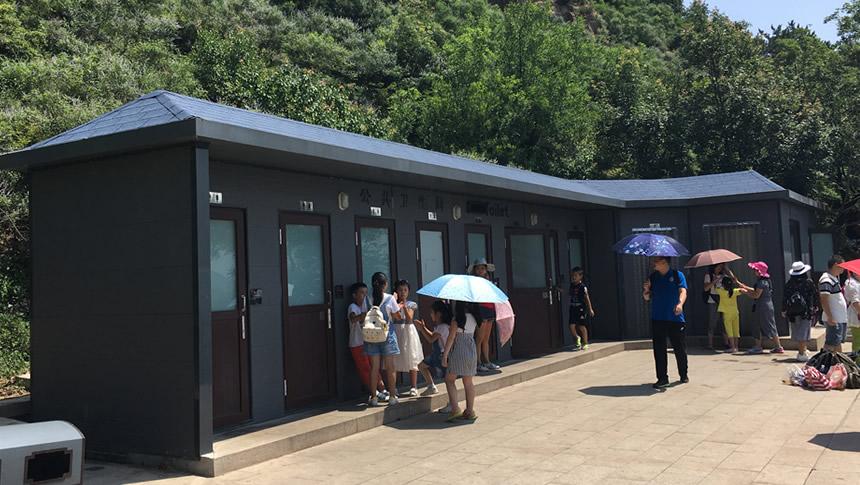 环保生态厕所厂家给北京八达岭做的厕所工程,客户非常满意,都被我们匠人精神惊呆了!